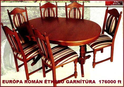 Erika bútor Román étkezők ,akciós áron,étkező garnítúrák ...
