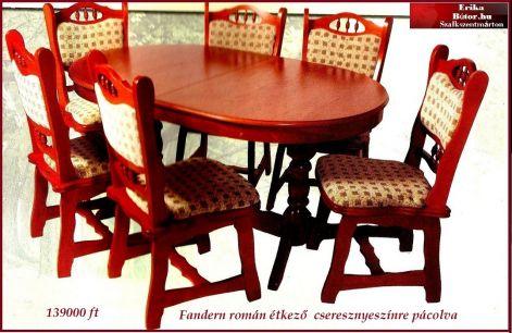 Étkezők,asztalok,székek,tálalók