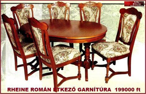 Erika bútor Román étkezők ,akciós áron,étkező garnítúrák,tálalók ...
